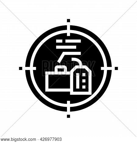 Goals Reputation Management Glyph Icon Vector. Goals Reputation Management Sign. Isolated Contour Sy