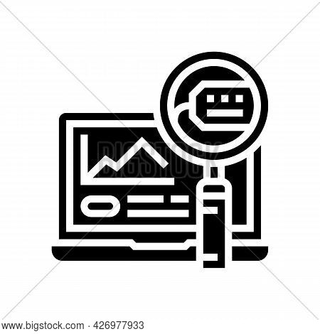 Marketing Research Glyph Icon Vector. Marketing Research Sign. Isolated Contour Symbol Black Illustr