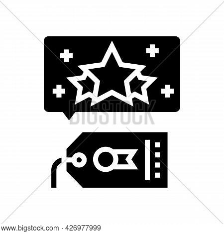 Brand Reputation Management Glyph Icon Vector. Brand Reputation Management Sign. Isolated Contour Sy