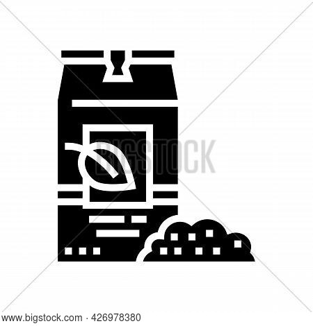 Loose Tea Bag Glyph Icon Vector. Loose Tea Bag Sign. Isolated Contour Symbol Black Illustration
