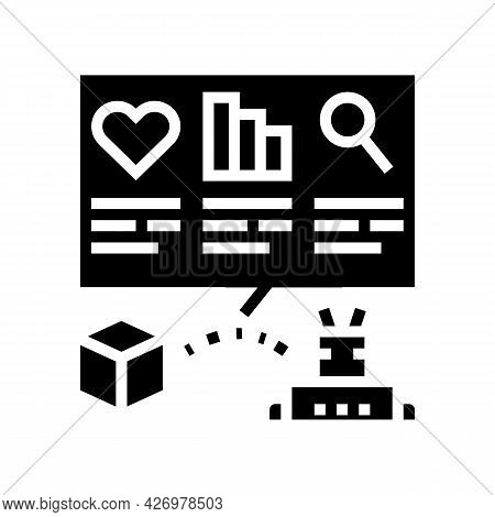 Automatically Analyzing Ugc Glyph Icon Vector. Automatically Analyzing Ugc Sign. Isolated Contour Sy