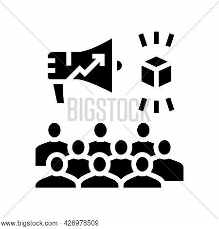 Growth Advertising Review Ugc Glyph Icon Vector. Growth Advertising Review Ugc Sign. Isolated Contou