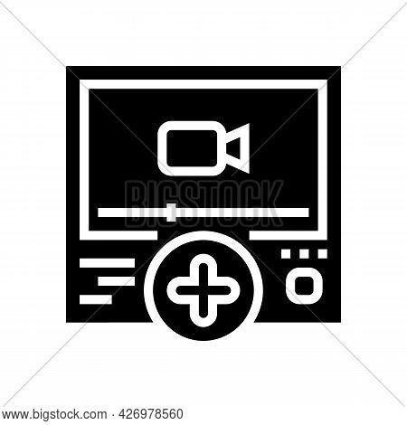 Video Content Ugc Glyph Icon Vector. Video Content Ugc Sign. Isolated Contour Symbol Black Illustrat