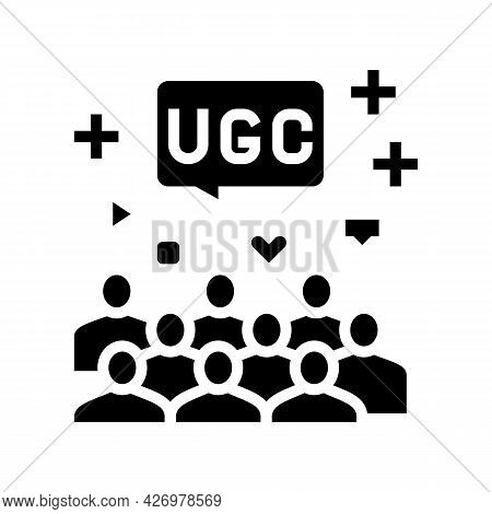 Public Social Media Users Ugc Glyph Icon Vector. Public Social Media Users Ugc Sign. Isolated Contou