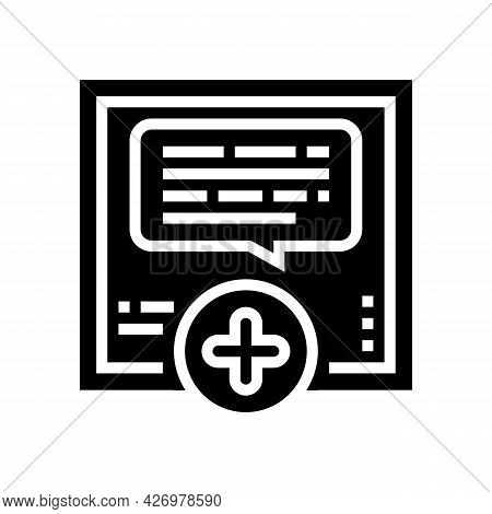 Chatting With User Ugc Glyph Icon Vector. Chatting With User Ugc Sign. Isolated Contour Symbol Black