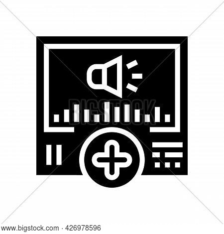 Audio Message Ugc Glyph Icon Vector. Audio Message Ugc Sign. Isolated Contour Symbol Black Illustrat