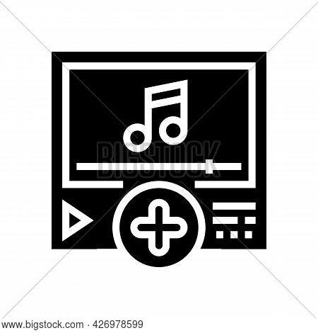Music Content Ugc Glyph Icon Vector. Music Content Ugc Sign. Isolated Contour Symbol Black Illustrat