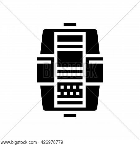 Layers In Water Filter Glyph Icon Vector. Layers In Water Filter Sign. Isolated Contour Symbol Black