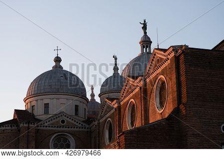 Basilica Santa Giustina Or Saint Justina Church In Padova, Veneto, Italy At Sunrise, A Benedictine A