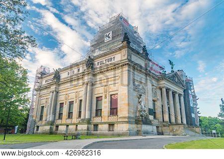 Zgorzelec, Poland - June 2, 2021: Municipal House Of Culture (polish: Miejski Dom Kultury) In Zgorze