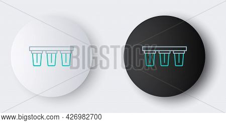 Line Water Filter Icon Isolated On Grey Background. System For Filtration Of Water. Reverse Osmosis