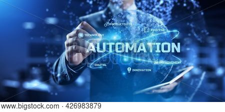Automation - Business Workflow Optimisation. Rpa - Robotic Process Automation. Smart Technology Conc