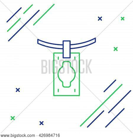 Line Money Laundering Icon Isolated On White Background. Money Crime Concept. Colorful Outline Conce