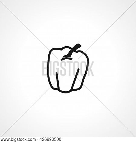 Bell Pepper Icon. Bell Pepper Isolated Simple Vector Icon