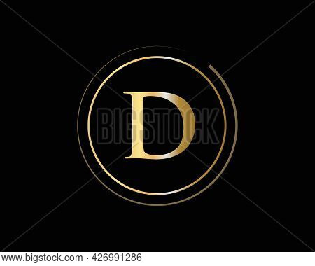 D Logo Design For Business And Company Identity. Creative D Letter With Luxury Concept