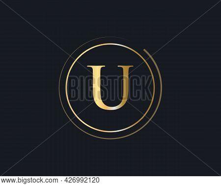 Initial U Letter Business Logo Design Vector. Modern U Logotype For Luxury Branding.
