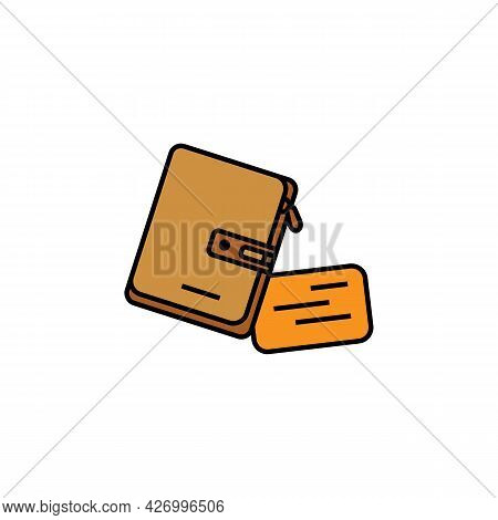 Purse Line Illustration Colored Icon. Element Of Business Illustration Icons. Signs, Symbols Can Be