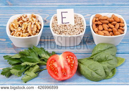 Natural Ingredients Or Products As Source Vitamin E, Minerals And Dietary Fiber, Healthy Nutrition C