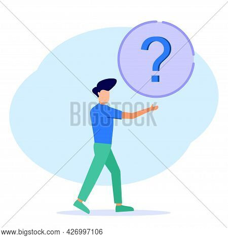 Vector Illustrations, Concept Illustrations Preparing Questions And Answers, Seminar Discussions, Me