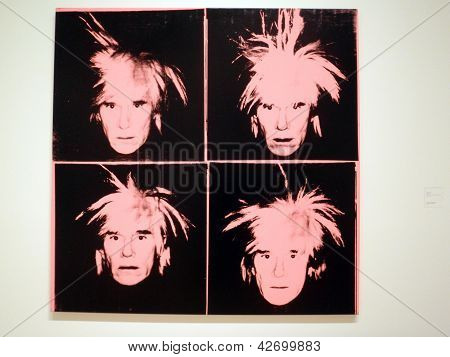 Andy Warhol - Self-portrait, C.1986 (four Pink Andy's)