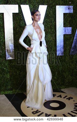 WEST HOLLYWOOD, CA - FEB 24: Irina Shayk at the Vanity Fair Oscar Party at Sunset Tower on February 24, 2013 in West Hollywood, California