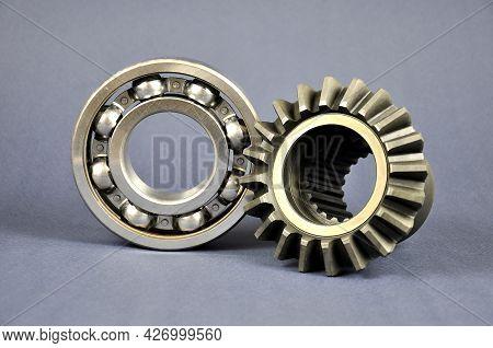 Gear Wheel And Bearing. Spare Parts. Repair Parts