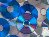CD, DVD, BD (Bluray) optical discs for music, video and data storage poster