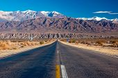 A scenic road in northern Argentina, near the small town of Cachi in Salta province poster