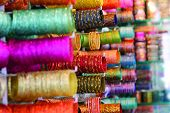 Bangles for Sale at the Laad Bazaar, Charminar, Hyderabad poster