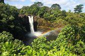 Rainbow Falls near Hilo (Big Island, Hawaii) poster