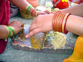 indian women in kitchen