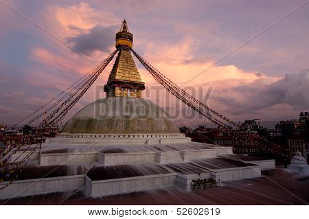 Boudhanath Stupa. Kathmandu, Napal