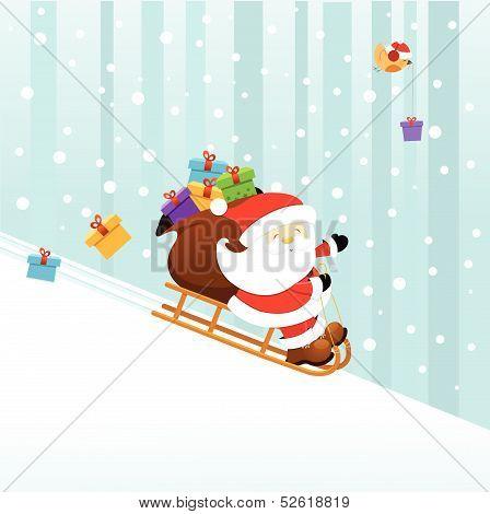 Santa On Sledge