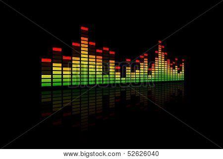 3D Music Equalizer Bars