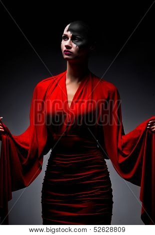 Sexy ghost in red dress poster