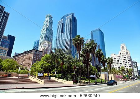 Panorama of Los Angeles Downtown