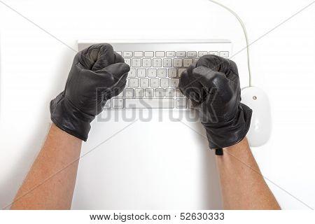 Computer Hacker Frustrastion