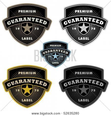Vector Badge and Shield Label Set. Easy to edit.
