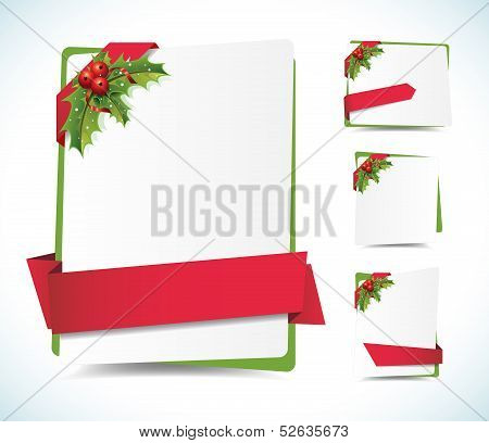 Christmas Background Labels