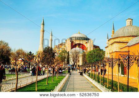 Hagia Sophia In Istanbul, Turkey Early In The Morning
