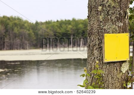 Rural Yellow Sign