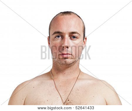 Caucasian Male Head And Shoulders