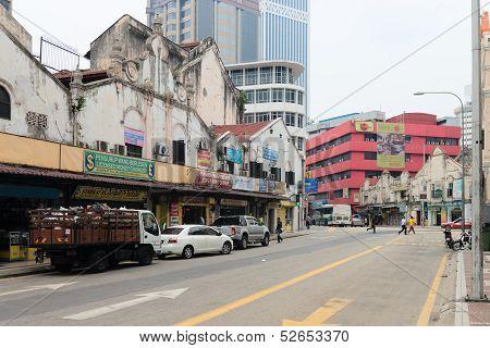Little India Street In Kuala Lumpur