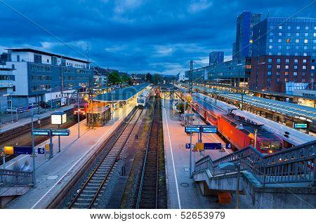 Freiburg Hauptbahnhof Railway Station, Germany