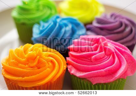 Bright Colorful Cupcakes