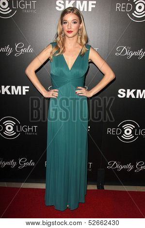 LOS ANGELES - OCT 18:  Sarah Blaine at the Dignity Gala and Launch of Redlight Traffic App at Beverly Hilton Hotel on October 18, 2013 in Beverly Hills, CA