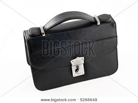Black Pochette For Businessmen Isolated
