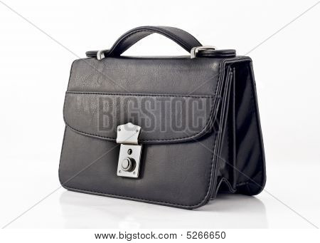 Black Pochette Or Small Bag Isolated