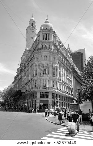 European building of downtown Buenos Aires