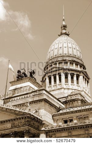 Congressional dome the Argentine Congress